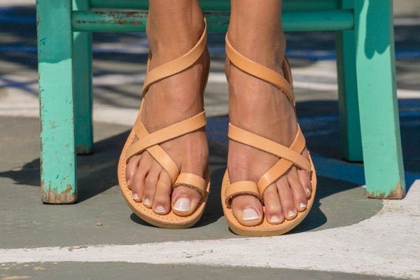 Triskelion Greek Leather Sandals - Unique Mother's Day Gifts
