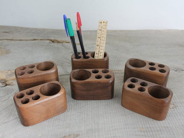 Small Wooden Desk Caddy