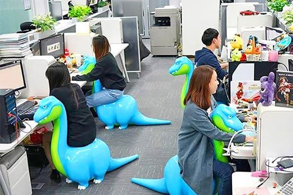 Dinosaur Shaped Office Chairs
