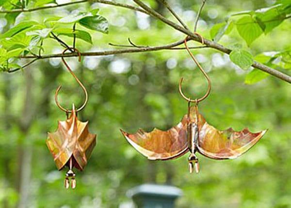 Backyard Bat Hanging Sculptures