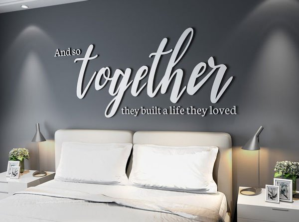Couples Housewarming Gift - Wall Decal Art