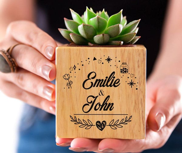 Couples Personalized Succulent Planter