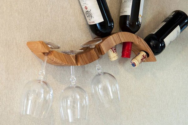 Elegant 3-bottle Wine Rack