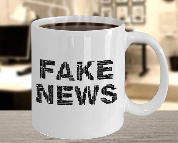 Fake News Funny Political Coffee Mug