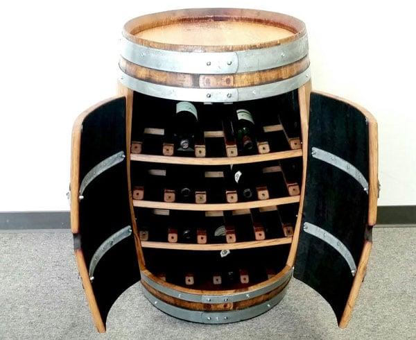 Full Barrel Freestanding Wine Rack