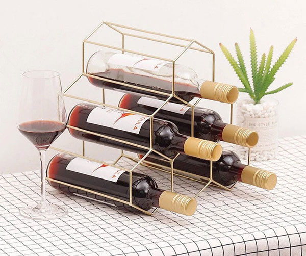 Geometric Tabletop Wine Rack