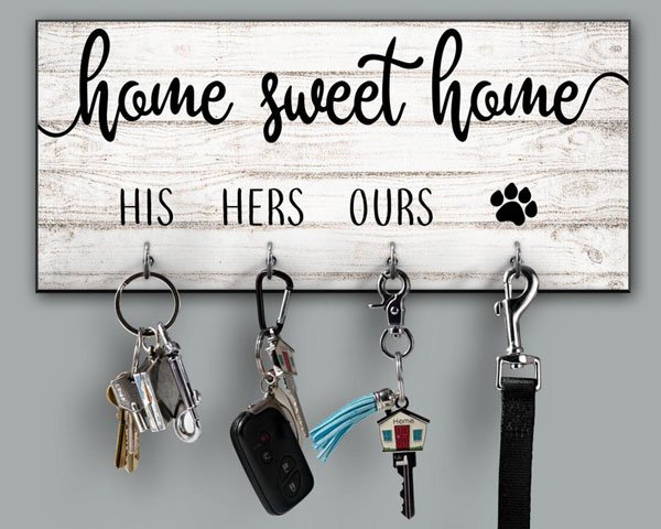 Home Sweet Home Personalized Key Holder