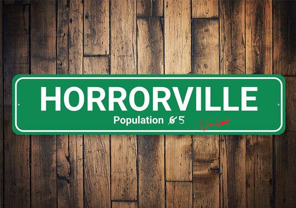 Horrorville Halloween Sign