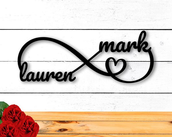 Personalized Metal Infinity Sign