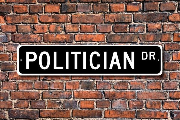 Politician Street Sign