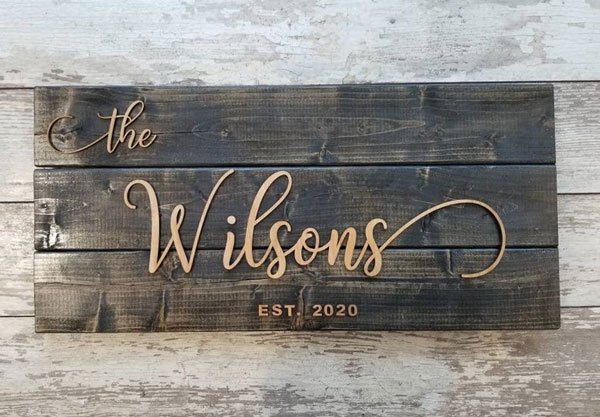 Rustic Name Sign