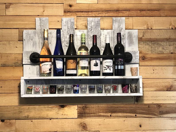 Rustic Pipe & Pallet Shelf Rack