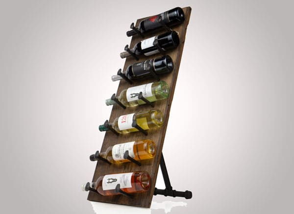 Rustic State Farmhouse Free Standing Wine Rack Holder