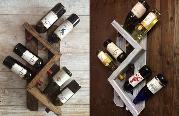 Rustic Wall Mounted Wine Rack
