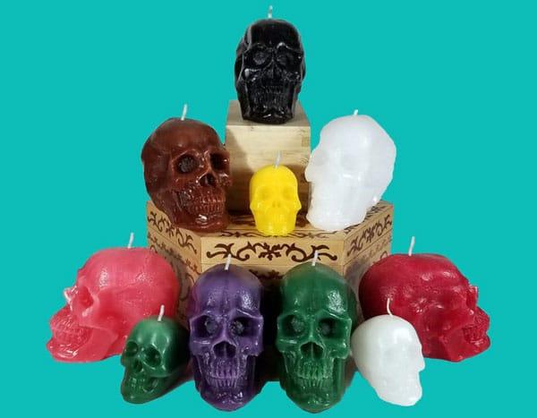 Skull Halloween Candles