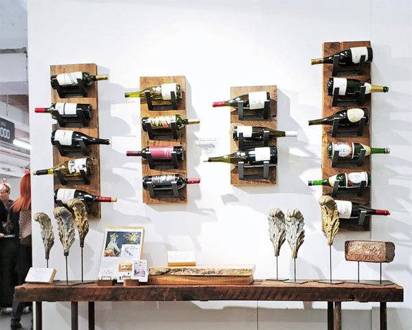 Vault Furniture Reclaimed Wood Wall-Mounted Wine Racks