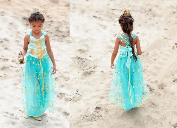 Aquamarine Disney Princes Jasmine Costume