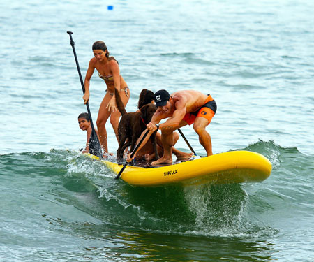 Giant Inflatable Stand-Up Paddle Board