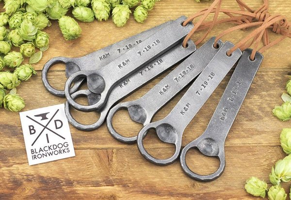 Hand Forged Personalized Bottle Opener - Gifts for Bartenders
