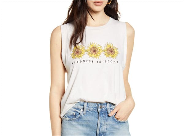 Kindness is Legal Sunflower Tank