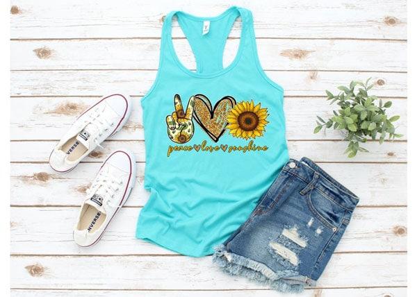 Peace Love and Sunshine, Sunflower Tank