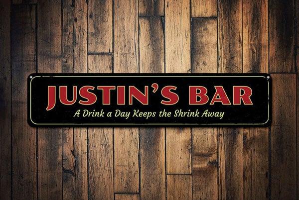 Personalized Bartender / Bar Owner Sign