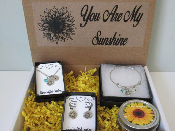 Personalized Sunflower Gift Box