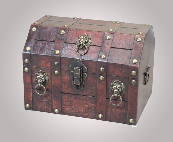 Antique Style Pirate Treasure Chest Decorative Box