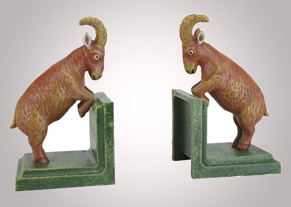 Billy Goat Sculptural Bookends (Set of 2)