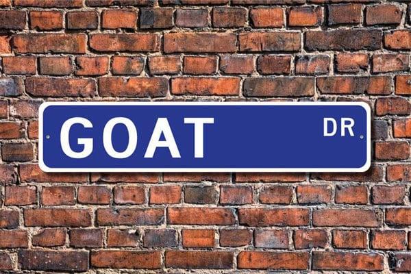 Custom Goat Street Sign
