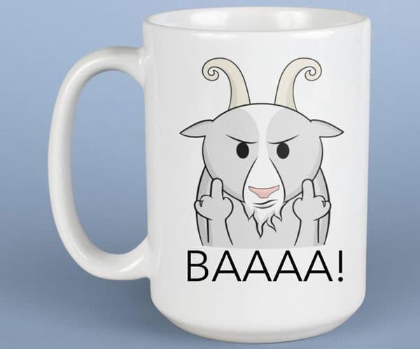 Funny Goat Mug - Gifts for Goat Lovers