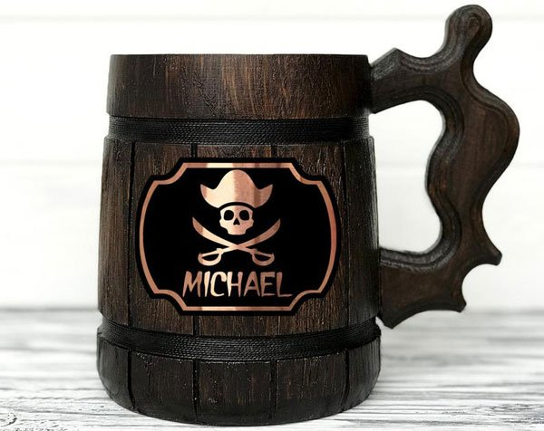 Personalized Pirate Skull Mug