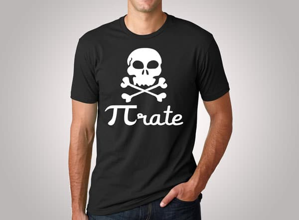 Pi rate Funny Pirate T-Shirt