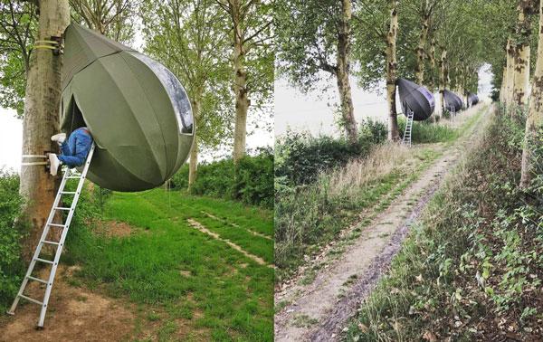 Raindrop Shaped Tree Tents`~