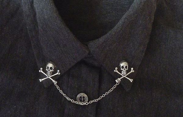 Skull Collar Pin with Chaon Lapel Pins
