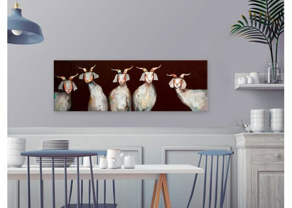 The 5 Goats - Wrapped Canvas Print
