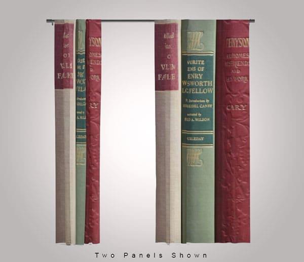 Antique Book Scene Curtains