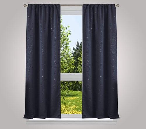 Davis Blackout Navy Window Panels