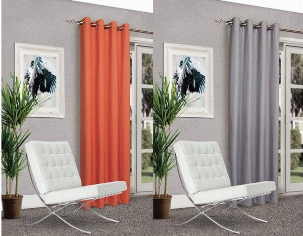 Ken Solid Room Darkening Curtain Panels (Set of 2)