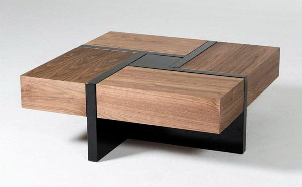 Lipscomb Solid 4-Drawer Storage Coffee Table