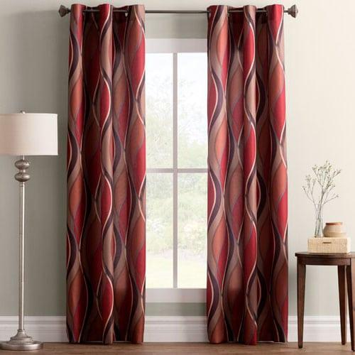 Lotte Geometric Grommet Curtains - masculine curtain ideas for men