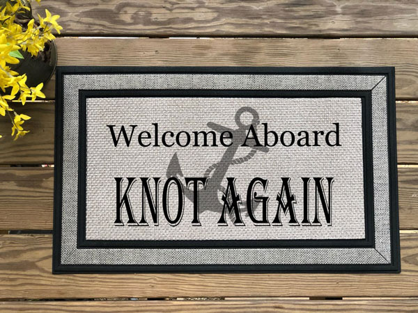 Personalized Boat Welcome Mat