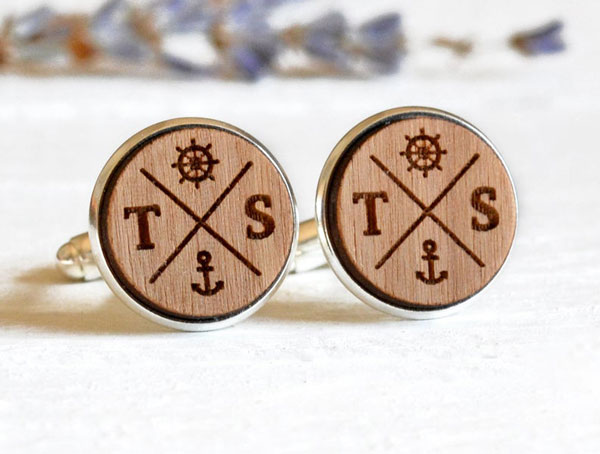 Personalized Nautical Cufflinks