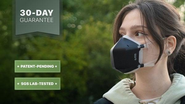 UV-C Light Air Purification Face Mask