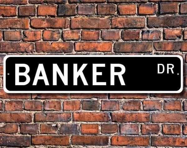 Custom Banker Street Sign