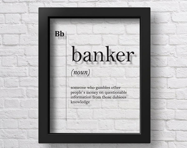 Funny Definition Print Gift for Banker