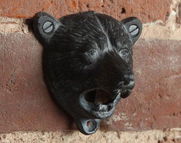 Bear Cast Iron Wall Mounted Bottle Opener - Perfect Gift - Cool Bottle Openers