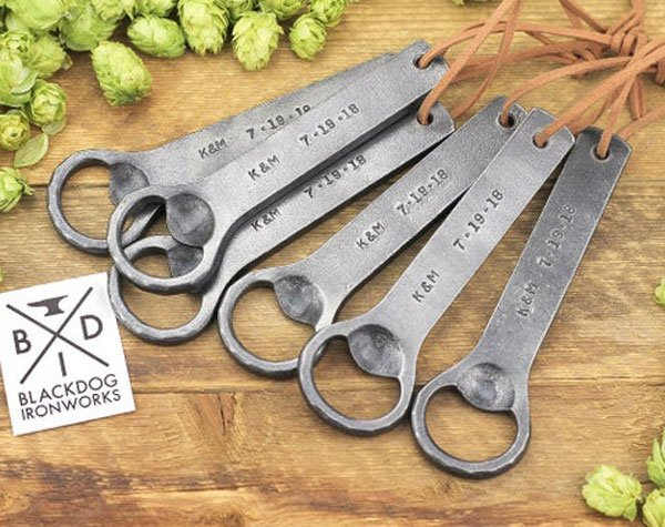 Forged Wrought Iron Engraved Openers - Cool Bottle Openers