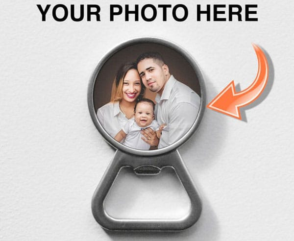 Magnetic Personalized Photo Bottle Opener