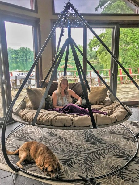 Flying Saucer Hammock Chair With Stand